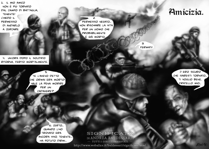fumetto storia soldati