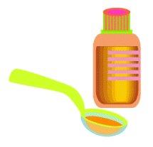 Vermes de um oxiúro em crianças de uma pastilha