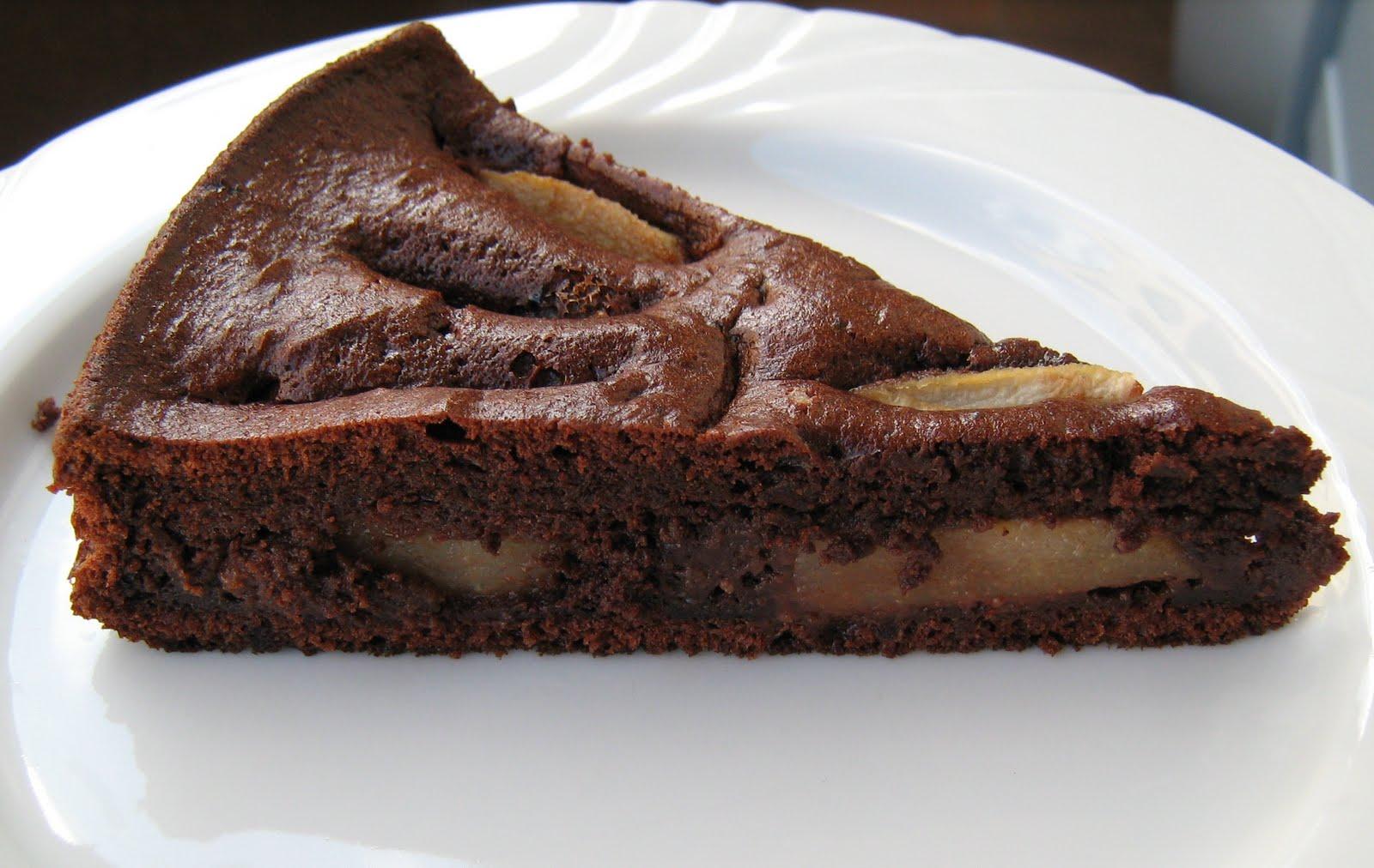 Torta con le pere al cioccolato