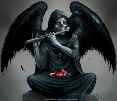 Angel Of Death Tattoo Designs
