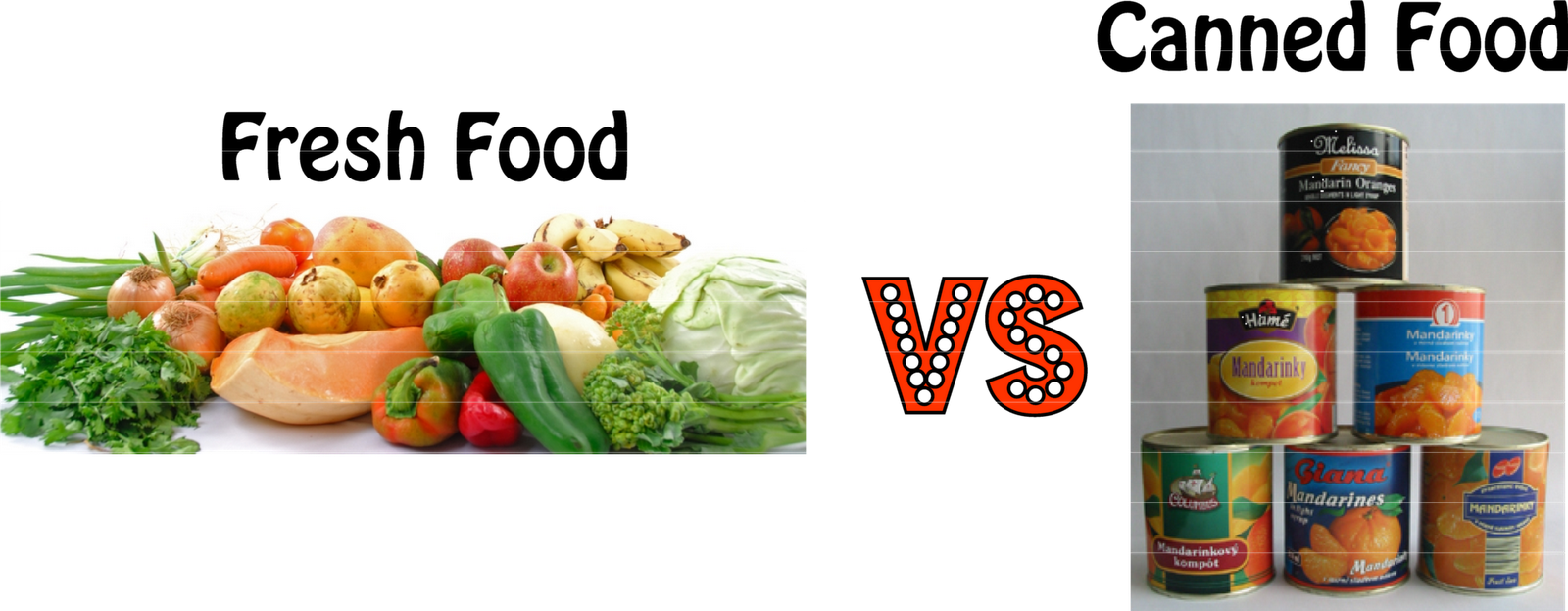the comparison of canned and fresh When it comes to your favorite veggies, should you buy fresh or canned both varieties of green beans will do your body good, but there are a few differences.