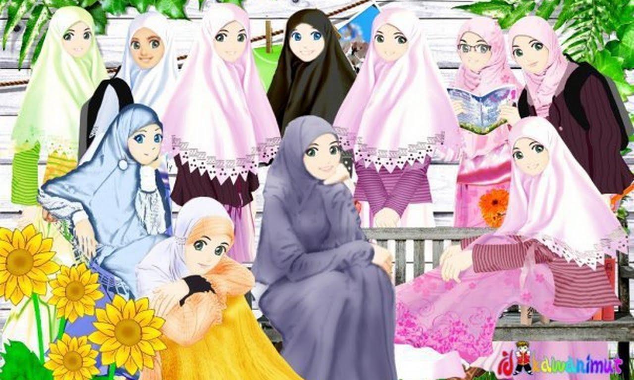 Muslim Girls Cartoon