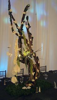 Tall Driftwood centerpiece