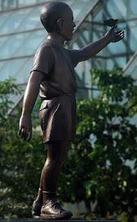 Barack Obama statue in Menteng, Central Jakarta
