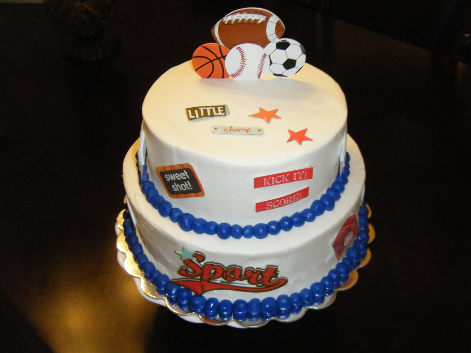 jessica 39 s cakealicious cakes sports themed baby shower cake