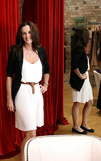 Megan dropped by and put her own lovely spin on the white pleat dress by new ...
