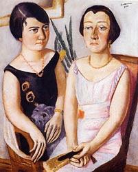 Max Beckmann  -  Double Portrait - 1923