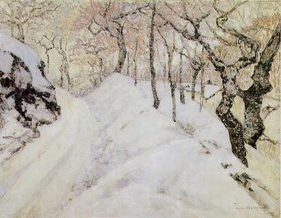 VICTOR CHARRETON  ( 1864-1936 ), Paysage d'hiver, musée d'Orsay.