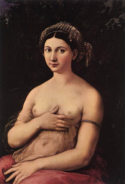 Raffaello Sanzio - Ritratto di giovane donna (La Fornarina)