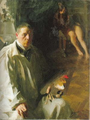 Anders Zorn -  Selfportrait with model,1896