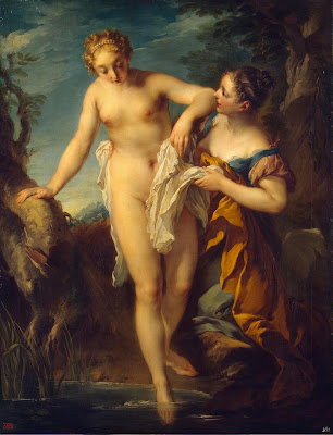 Woman Bathing - Lemoyne, François.