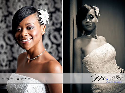 Beautiful shots from Ericka's bridal session in Charlotte with Wedding Photographer - M. Clay Photography