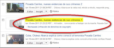 Foto 0 en  - Censurado por YouTube otro video que contiene actividad del terrorista Posada Carriles (+ video)