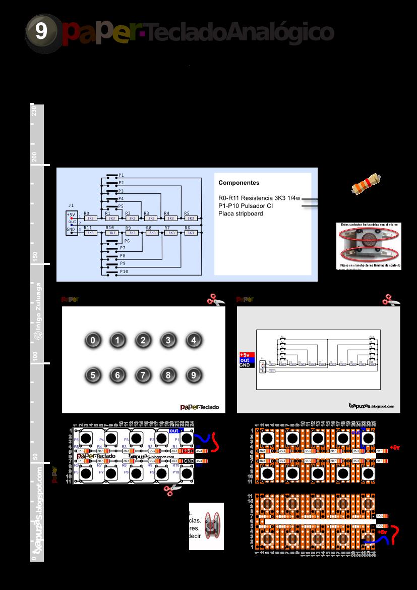 Txapuzas electrónicas: PaperTecladoAnalógico. Varios pulsadores con ...