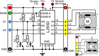 Paperstepperunipolar Driver De Potencia 12 likewise 74hc4078 8 Input Or Nor Gate likewise Paperstepperl293d Driver De Potencia further Control Motor Arduino L293d Chip furthermore Index. on l293d motor driver datasheet