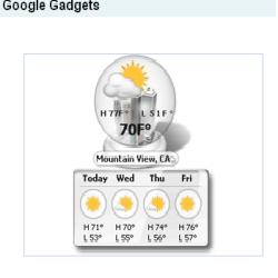 Google gadgets picture