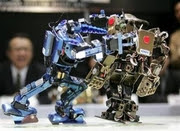 Robots fight at Tokyo's 12th Robo-One Grand Championship match