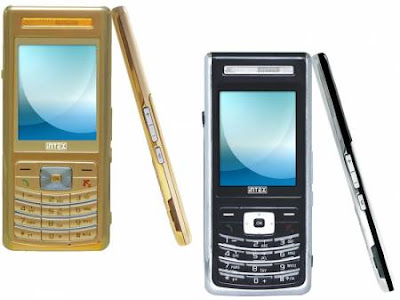 Aura black and Aura gold mobile phones