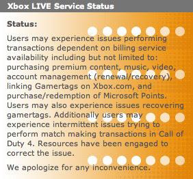 Xbox Live service 13 still down