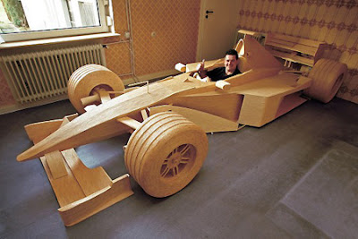 F1 using 956000 matchsticks car