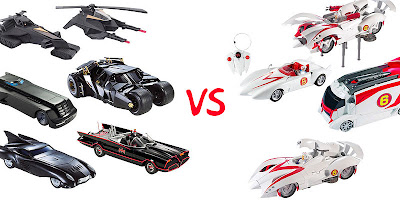 Batman vs speedracer cars