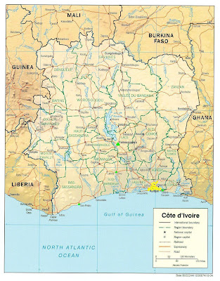 maps of ivory coast. from the Ghana Cape Coast
