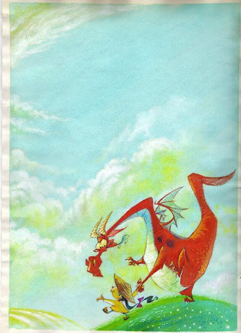 dragon de cuento infantil