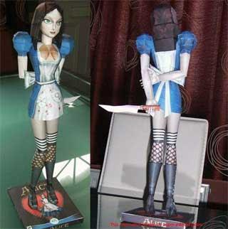 Sexy Alice Papercraft