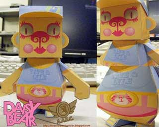 Daisy Bear Papercraft