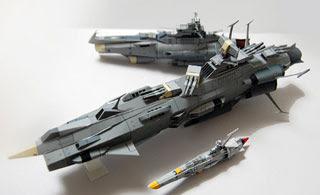 Andromeda Battleship Papercraft