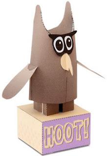 Hoot Papercraft Owl