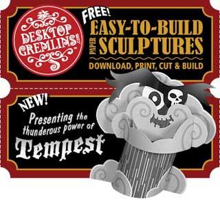 Desktop Gremlin Tempest Papercraft