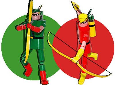 Green Arrow Papercraft & Speedy