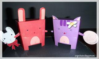 Pinky Wabbit Purple Pussy Papercraft