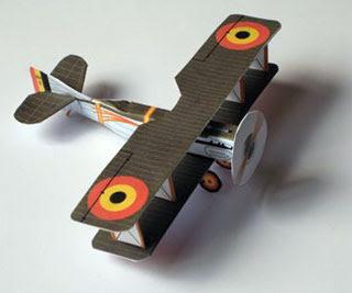 SPAD VII Biplane Papercraft Ciselet