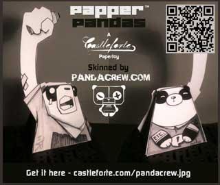 Papper Panda Paper Toy