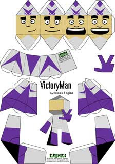 Victory Man Paper Toy