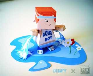 Aquaboy Paper Toy