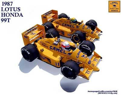 Camel Lotus Honda F1 Papercraft
