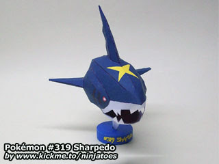 Pokemon Sharpedo Papercraft