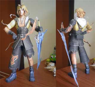 Tidus Papercraft