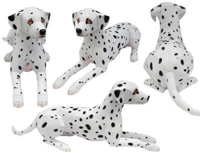 Dalmatian Papercraft