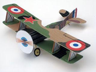 SPAD XIII Biplane Papercraft