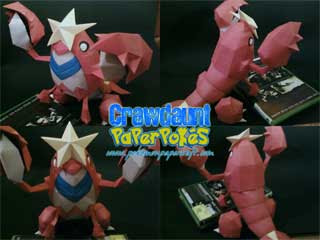 Pokemon Crawdaunt Papercraft