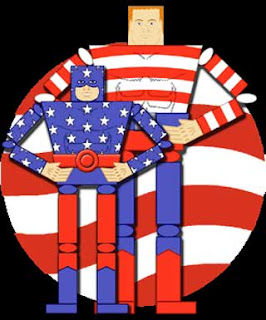 Star Spangled Kid Stripesy Papercraft