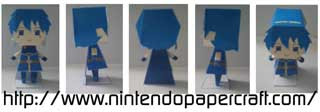 Chibi Marth Papercraft (Fire Emblem)