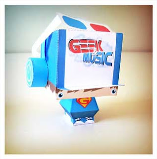Geek and Music Mascot Papercraft