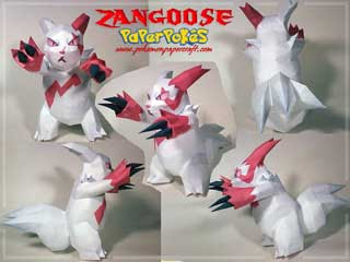 Zangoose Papercraft