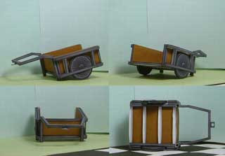 Wheel Cart Papercraft