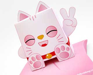 Lucky Cat Paper Toy